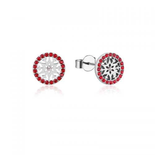 Disney Frozen Snowflake July Birthstone Stud Earrings Sterling Silver Couture Kingdom