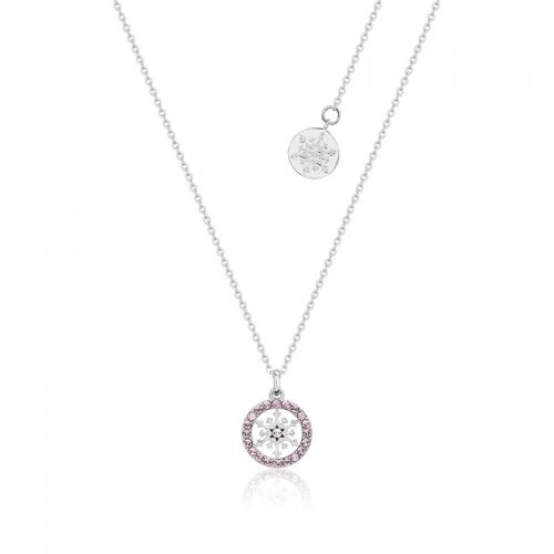 Disney Frozen Snowflake June Crystal Necklace Sterling Silver Couture Kingdom