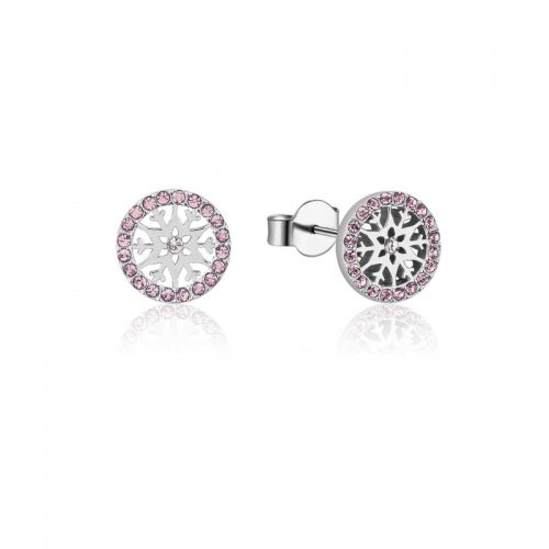 Disney Frozen Snowflake June Birthstone Stud Earrings Sterling Silver Couture Kingdom