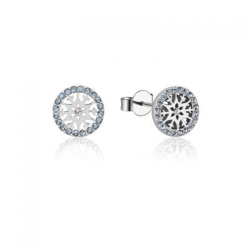 Disney Frozen Snowflake March Birthstone Stud Earrings Sterling Silver Couture Kingdom