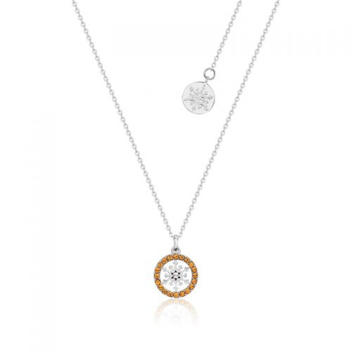 Disney Frozen Snowflake November Birthstone Crystal Necklace Sterling Silver Couture Kingdom