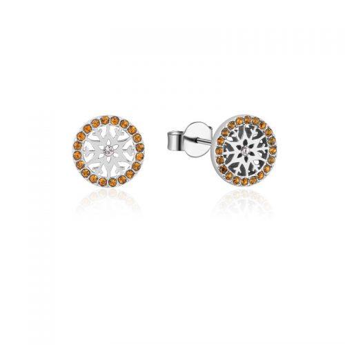 Disney Frozen Snowflake November Birthstone Stud Earrings Sterling Silver Couture Kingdom
