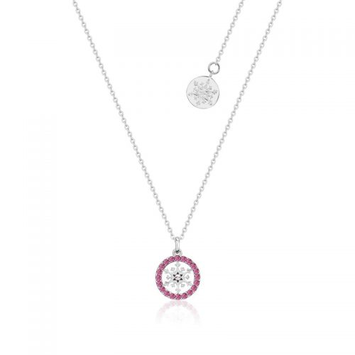 Disney Frozen Snowflake October Birthstone Crystal Necklace Sterling Silver Couture Kingdom