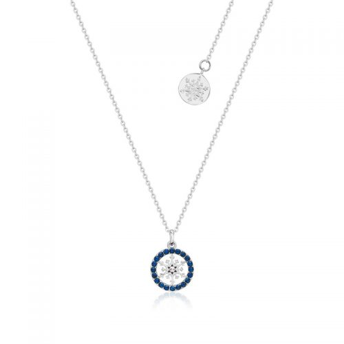 Disney Frozen Snowflake September Birthstone Crystal Necklace Sterling Silver Couture Kingdom