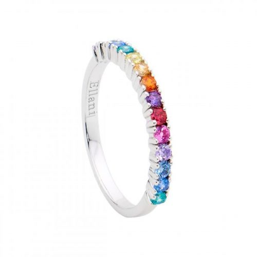 Spectral Colour Silver Ring R494M
