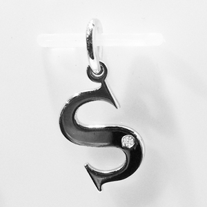 A to Z Initial Silver Pendant with Diamond