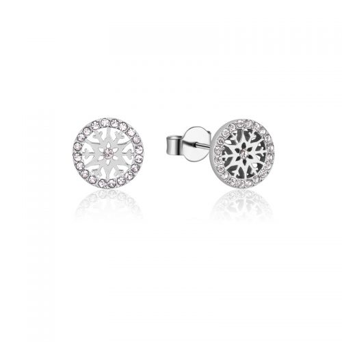 Disney Frozen 2 Snowflake April Birthstone Stud Earrings