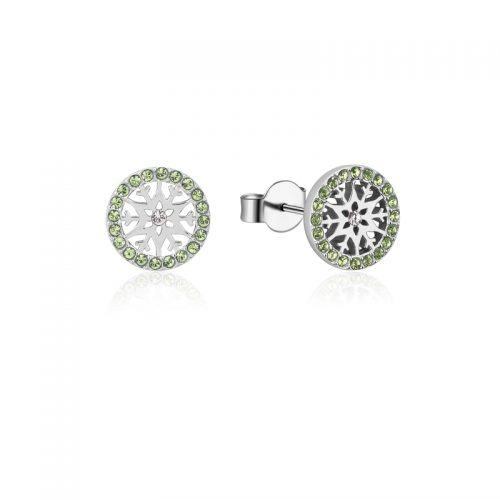 Disney Frozen 2 Snowflake August Birthstone Stud Earrings