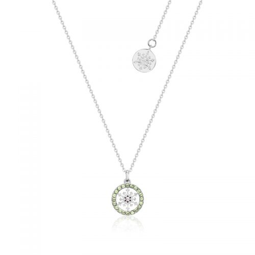 Disney Frozen 2 Snowflake August Birthstone Necklace