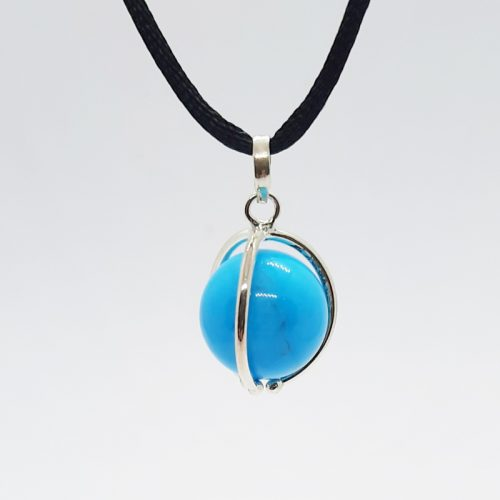 Blue Howlite Ball Pendant