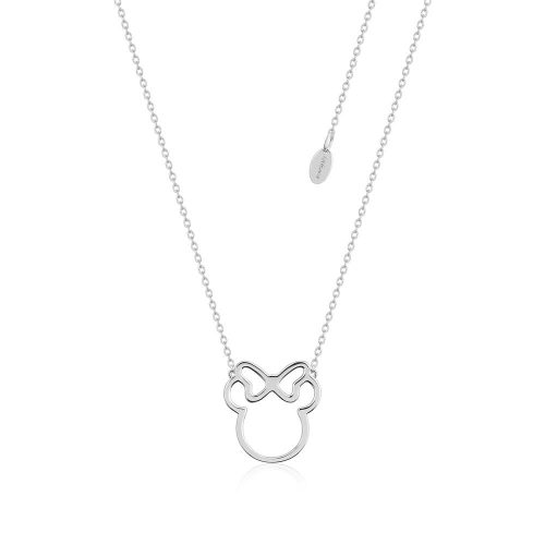 Disney Minnie Mouse Outline Sterling Silver Necklace