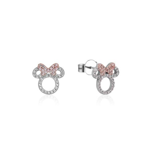 Disney_Minnie_Mouse_Sterling_Silver_Rose_Gold_Crystal_Stud_Earrings_Couture_Kingdom