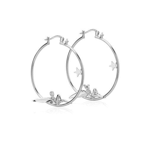 Disney_Tinker_Bell_Sterling_Silver_Hoop_Earrings_Couture_Kingdom