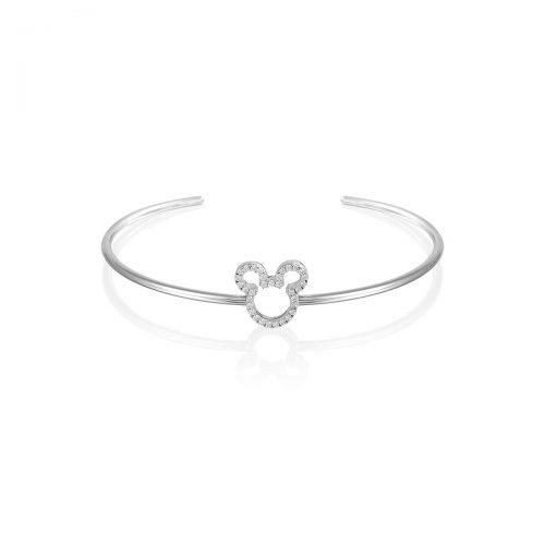 Disney Precious Metal Mickey Mouse Crystal Outline Bracelet
