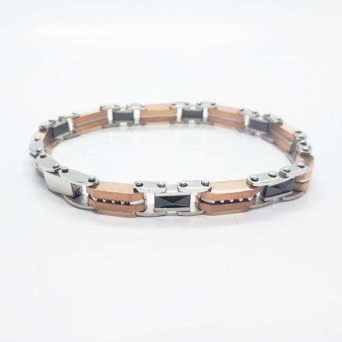 Double Side Reversible Ceramic Chain Bracelet MB126