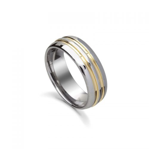 Tungsten Steel Infinity Ring