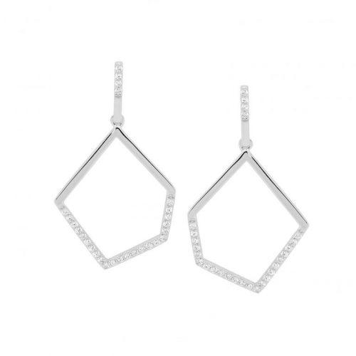 Ellani Geometric earrings silver