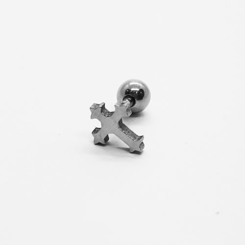 Stainless Steel Small Cross Earring ME032