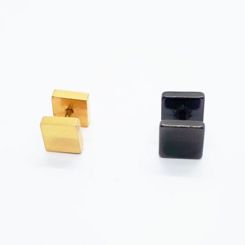 Stainless Steel 7mm Square Earring ME090