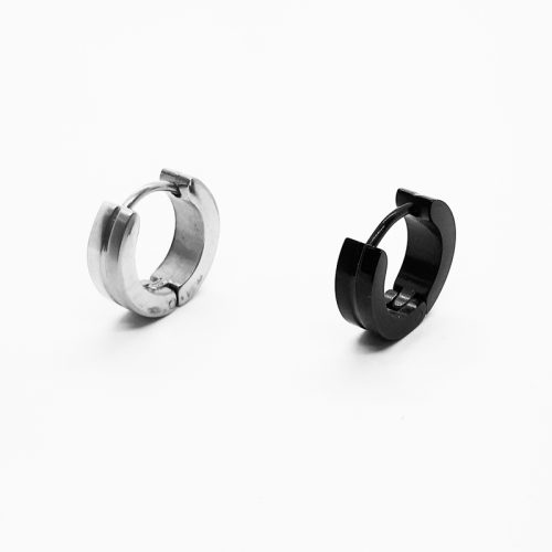 Stainless Steel Hoop Matte and High Polished Earring ME095-ME2873