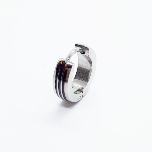 Surgical Steel Striped Hoop Earring ME097