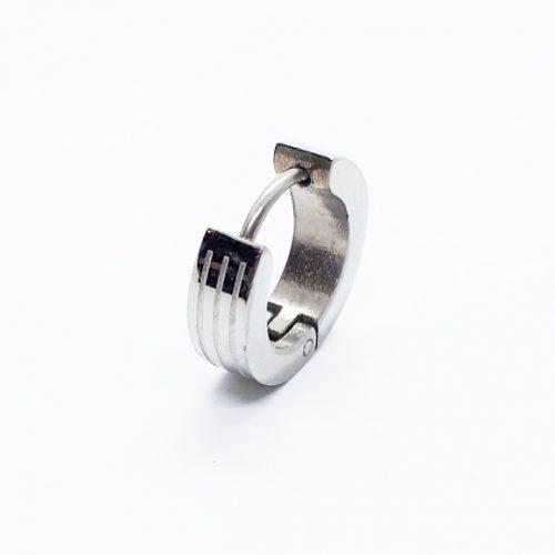 Surgical Steel Striped Hoop Earring ME2863