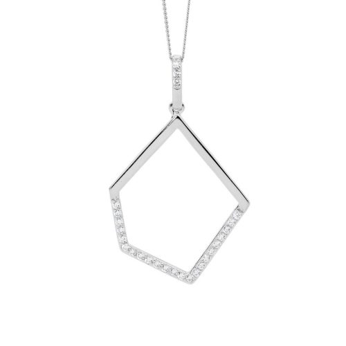 Geometric Silver Pendant P836S