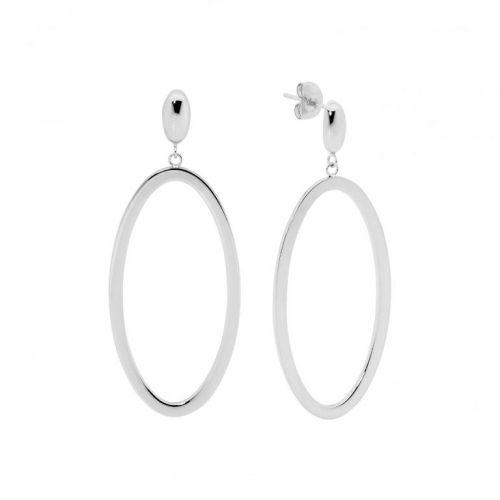 Stainless Steel Open Elips Shape Earrings SE218S