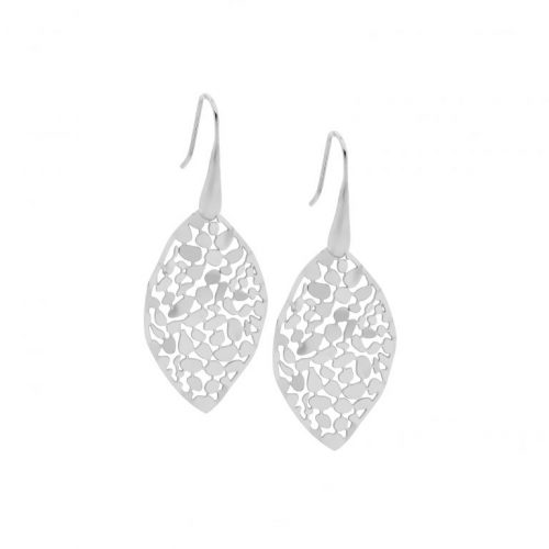 Stainless Steel Small Organic Patterned Earrings SE222S