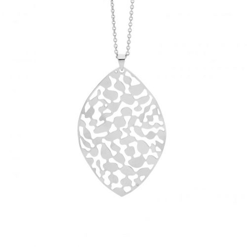 Stainless Steel Organic Patterned Necklace SP119S