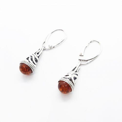 Amber earrings AC142B
