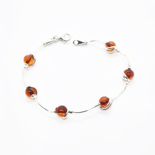 Amber silver bracelet AC182