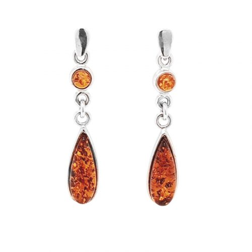 Genuine Baltic Amber Earrings 191