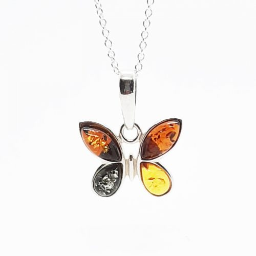 Amber silver necklace AC194