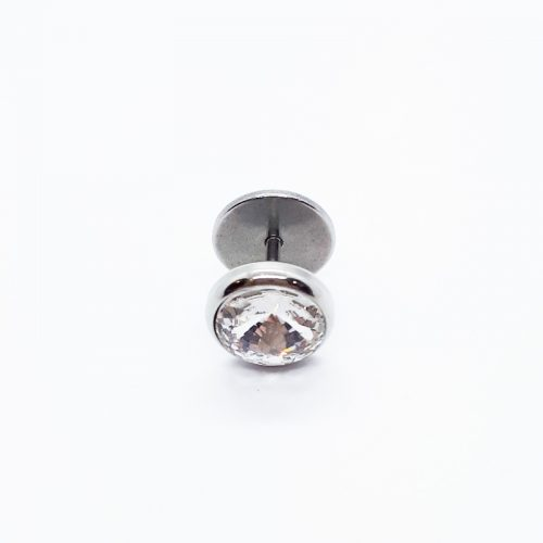 Stainless Steel 10mm Crystal Earring