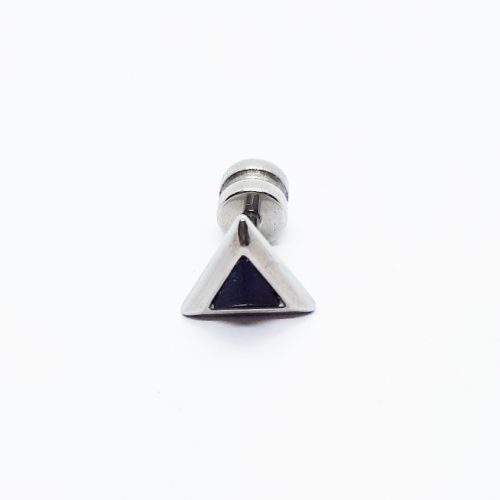Stainless Steel Triangle Crystal Earring
