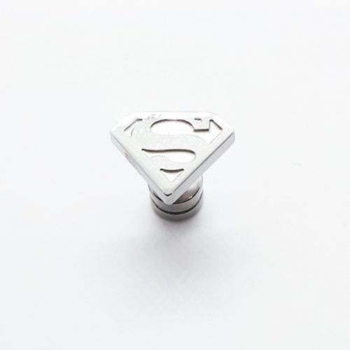 Stainless Steel Superman Earring