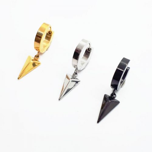 Stainless Steel Arrow Head Drop Earring