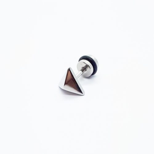Stainless Steel Pyramid Earring