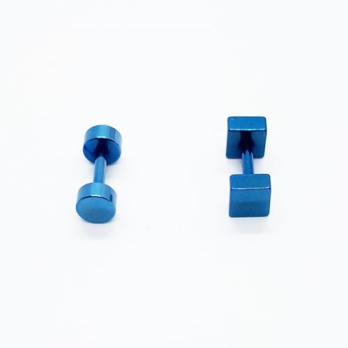 Stainless Steel 4mm Blue Point Earring