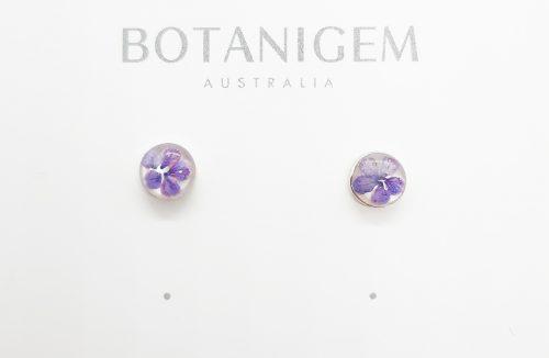 Petite Purple Stud MOP Earrings