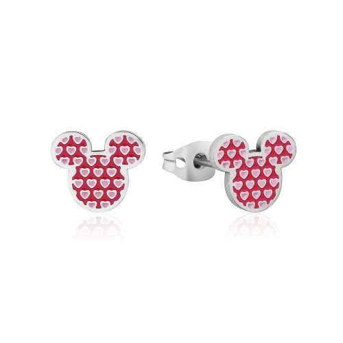 Disney ECC Mickey Mouse Heart Enamel Stud Earrings