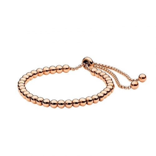Adjustable Stainless Steel Bracelet Rose Gold
