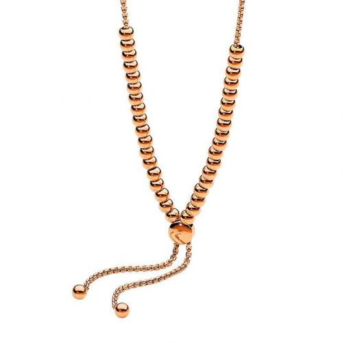 Adjustable Stainless Steel Necklace Rose Gold