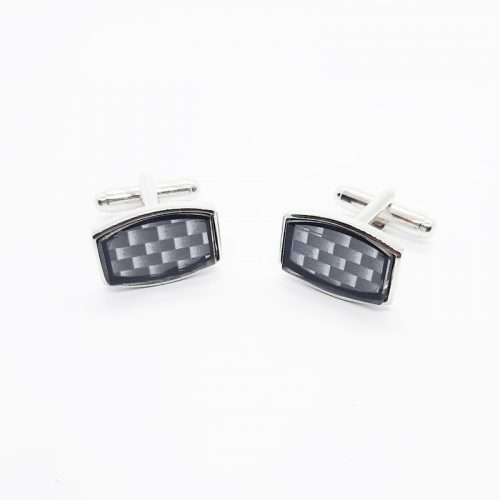 Sapphire Glass Covered Printed Pattern Cufflinks