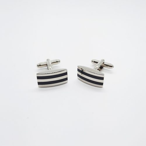 Black Stripe Enamel Cufflinks