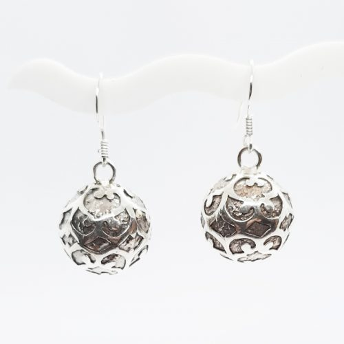 Antique Silver Lace Harmonyball Earrings