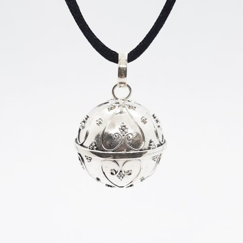 Large Happiness Silver Harmonyball Pendant