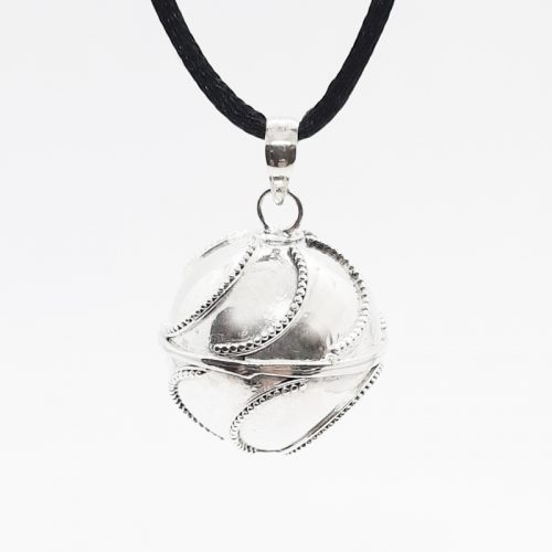 Large Waves Silver Harmonyball Pendant