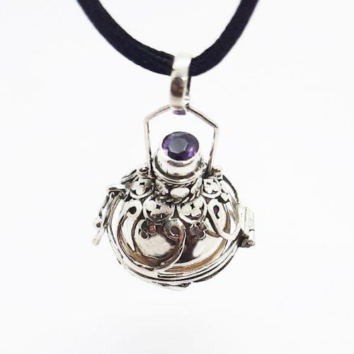 Amethyst Silver Lantern Harmonyball